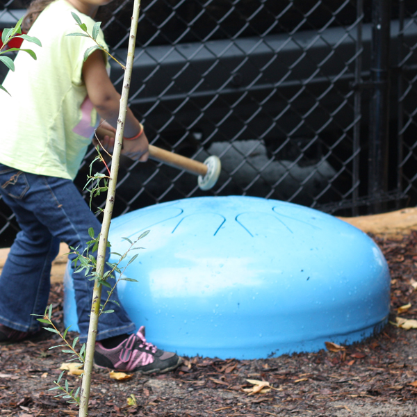 Egg-Drum on Soil by Bienenstock-designed playground in Atelier Kids